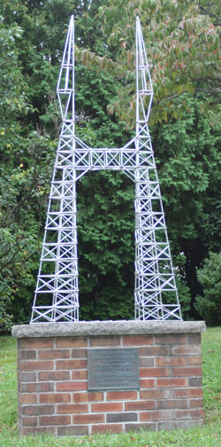 Model of Murgas Tower in           Wilkes-Barre